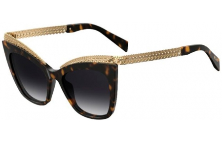Sunglasses - Moschino - MOS009/S - 086 (9O)  DARK HAVANA // DARK GREY GRADIENT