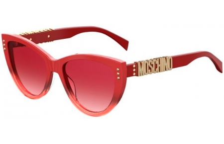 Sunglasses - Moschino - MOS018/S - C9A (3X)  RED // PINK GRADIENT