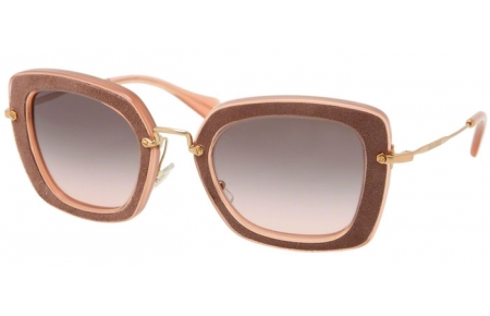 Sunglasses - Miu Miu - SMU 07OS - OAO1E2 ANTIQUE PINK BROWN // GREY GRADIENT