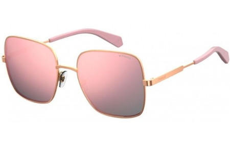 Sunglasses - Polaroid - PLD 6060/S - EYR (0J) GOLD PINK // GREY ROSE GOLD MIRROR POLARIZED