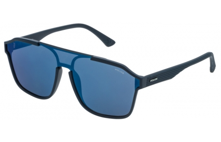 Gafas de Sol - Police - SPL497 ROCK 1 - 9NQB DARK BLUE // GREY MIRROR BLUE ANTIREFLECTION