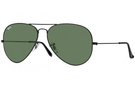 4d84504270 ... METAL II - L2821 BLACK // CRYSTAL GREEN. Gafas de Sol - Ray-Ban® -  Ray-Ban® RB3026 AVIATOR LARGE