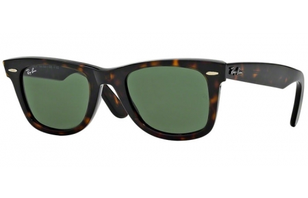 Sunglasses - Ray-Ban® - Ray-Ban® RB2140 ORIGINAL WAYFARER - 902 TORTOISE // CRYSTAL GREEN