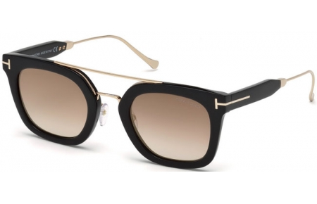 Sunglasses - Tom Ford - ALEX-02 FT0541 - 01F BLACK // BROWN GRADIENT