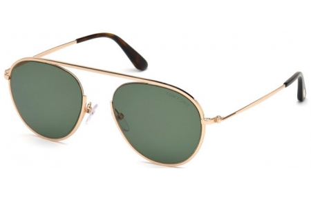 Gafas de Sol - Tom Ford - KEIT-02 FT0599 - 28N SHINY GOLD // GREEN