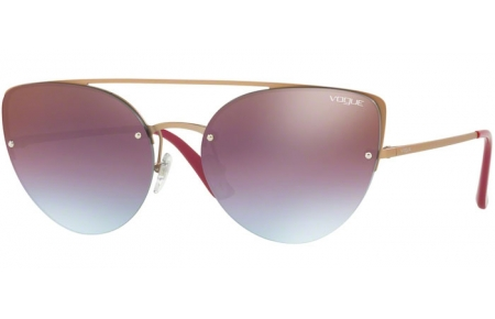 Sunglasses - Vogue - VO4074S - 5075H7 MATTE LIGHT PINK GOLD // AZURE GRADIENT PINK BROWN MIRROR RED