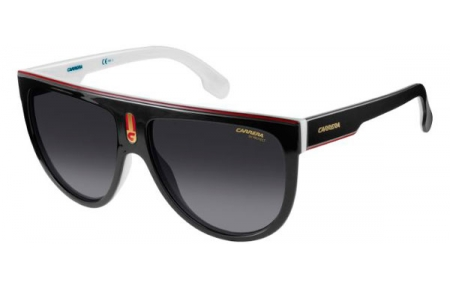 d1d520d425b3b Sunglasses Carrera CARRERA FLAGTOP 80S (9O) BLACK WHITE    DARK GREY ...