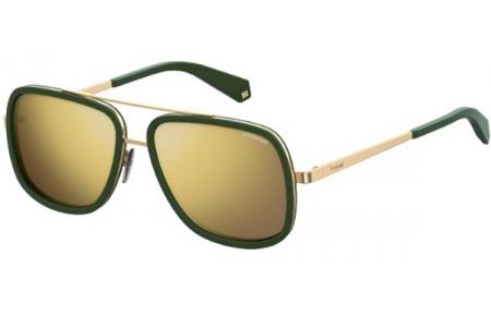 8e380f9b3a Gafas de Sol Polaroid PLD 6033/S 1ED (LM) GREEN // GREY GOLD MIRROR ...
