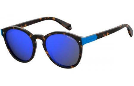 3985b2a1ae7 Sunglasses Polaroid PLD 6034 S N9P (5X) MATTE HAVANA    GREY BLUE ...