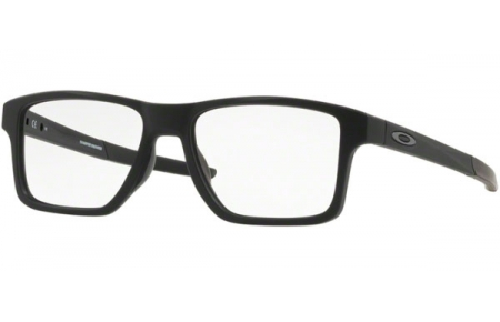 Frames - Oakley Prescription Eyewear - OX8143 CHAMFER SQUARED - 8143-01 SATIN BLACK