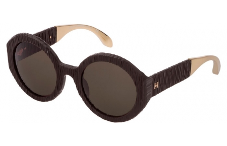 Sunglasses - Carolina Herrera New York - SHN601  - 5GDM  MATTE BROWN // BROWN