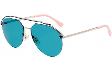 Sunglasses - Fendi - FF M0031/S - 3YG (MT)  LIGHT GOLD // GREEN MIRROR