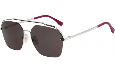 Sunglasses - Fendi - FF M0032/S - 010 (IR)  PALLADIUM // GREY