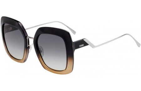 Sunglasses - Fendi - FF 0317/S - 7C5 (PR)  BLACK CRYSTAL // GREY BROWN GRADIENT