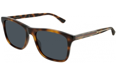Sunglasses - Gucci - GG0381S - 004 Calibre55 HAVANA // BLUE
