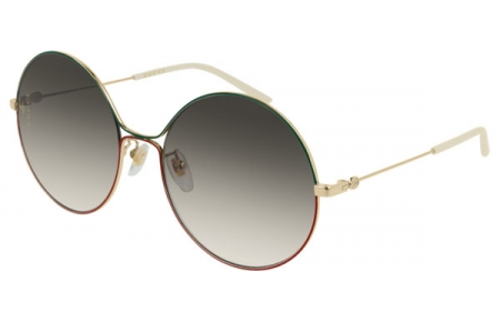 Sunglasses - Gucci - GG0395S - 003 GOLD GREEN RED // BROWN GRADIENT