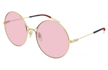Sunglasses - Gucci - GG0395S - 004 GOLD // LIGHT PINK