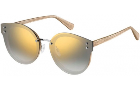 Sunglasses - Max & Co - MAX&CO.374/S - DXQ (9F)  BEIGE GLITTER // LIGHT GREY GOLD GRADIENT MIRROR