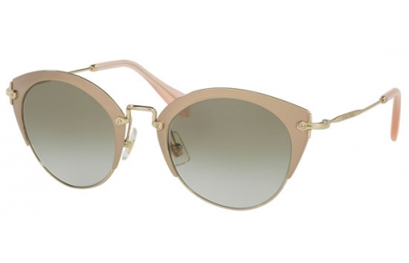 Gafas de Sol - Miu Miu - SMU 53RS - UFD3H2 MIRROR PINK PALE GOLD // LIGHT BROWN GRADIENT LIGTH GREEN