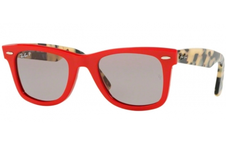 Sunglasses - Ray-Ban® - Ray-Ban® RB2140 ORIGINAL WAYFARER - 1243P2 RED // GREY POLARIZED