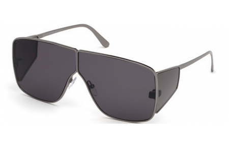 Sunglasses - Tom Ford - SPECTOR FT0708 - 08A  ANTHRACITE SHINY // GREY