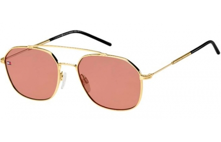 Sunglasses - Tommy Hilfiger - TH 1599/S - EYR (4S) GOLD PINK // BURGUNDY