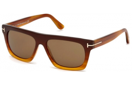 17dc6aaccf Gafas de Sol - Tom Ford - ERNESTO-02 FT0592 - 50E DARK BROWN YELLOW    BROWN