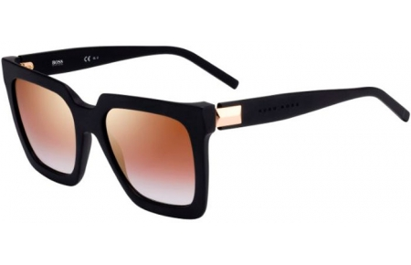 Sunglasses - BOSS Hugo Boss - BOSS 1152/S - 003 (JL) MATTE BLACK // BROWN GRADIENT GOLD MIRROR