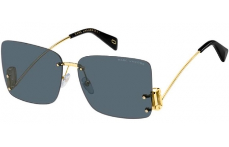 Sunglasses - Marc Jacobs - MARC 372/S - 807 (IR) GOLD BLACK // GREY