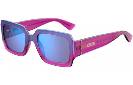 Sunglasses - Moschino - MOS063/S - QHO (35) CYCLAMEN // LILAC MIRROR BLUE