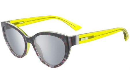 Sunglasses - Moschino - MOS065/S - 0NE (T4) ANIMAL YELLOW // SILVER MIRROR