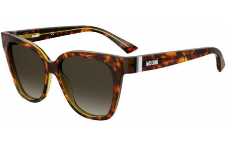 Lunettes de soleil - Moschino - MOS066/S - HJV (HA) HAVANA YELLOW // BROWN GRADIENT