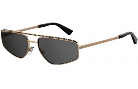Sunglasses - Moschino - MOS053/S - 000 (IR) ROSE GOLD // GREY