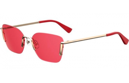 Sunglasses - Moschino - MOS054/S - Y11 (4S) GOLD RED // BURGUNDY