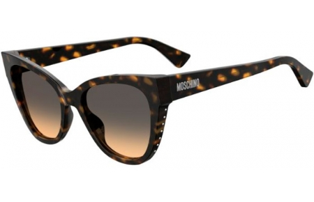Sunglasses - Moschino - MOS056/S - 086 (GA) DARK HAVANA // BROWN OCHRE GRADIENT