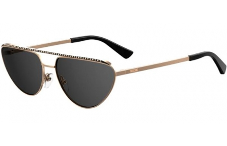 Sunglasses - Moschino - MOS057/G/S - 000 (IR) ROSE GOLD // GREY