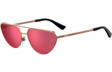 Sunglasses - Moschino - MOS057/G/S - DDB (ZK) GOLD COPPER // RED ANTIREFLECTION