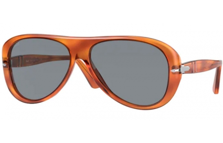 Sunglasses - Persol - PO3260S - 96/56 TERRA DI SIENA  // LIGHT BLUE