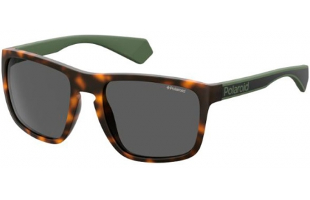 Sunglasses - Polaroid - PLD 2079/S - PHW (UC) HAVANA GREEN // GREEN POLARIZED