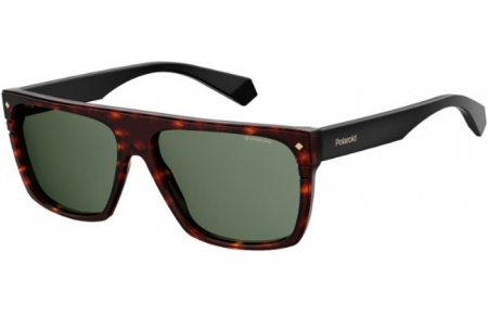 Sunglasses - Polaroid Premium - PLD 6086/S/X - 086 (UC) DARK HAVANA // GREEN POLARIZED