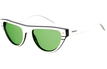 Sunglasses - Polaroid Premium - PLD 6087/S/X - 0XR (UC) IVORY BLACK // GREEN POLARIZED