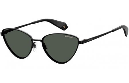 Sunglasses - Polaroid - PLD 6071/S/X - 807 (M9) BLACK // GREEN POLARIZED