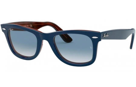 Gafas de Sol - Ray-Ban® - Ray-Ban® RB2140 ORIGINAL WAYFARER - 12783F TOP BLUE ON RED HAVANA // CLEAR GRADIENT BLUE