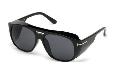 Sunglasses - Tom Ford - FENDER FT0799 - 01A  SHINY BLACK // GREY