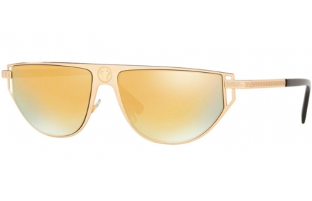Gafas de Sol - Versace - VE2213 - 10027P GOLD // BROWN GOLD MIRROR