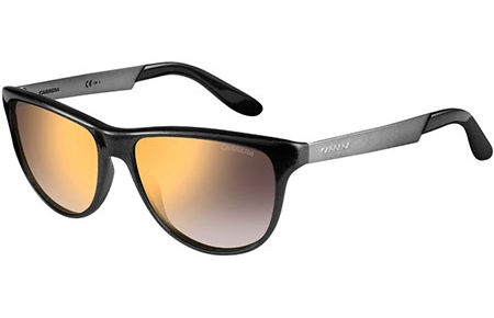 Sunglasses - Carrera - CARRERA 5015/S - 8QB (VD) BLACK MATTE RUTHENIUM BLACK // GREY GRADIENT MIRROR GOLD