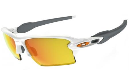e7fffd6ebbb POLISHED WHITE    FIRE IRIDIUM. Gafas de Sol - Oakley - FLAK 2.0 XL OO9188  - 9188-19 POLISHED WHITE