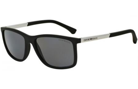 77105fe1f6 Gafas de Sol - Emporio Armani - EA4058 - 506381 BLACK RUBBER // GREY  POLARIZED