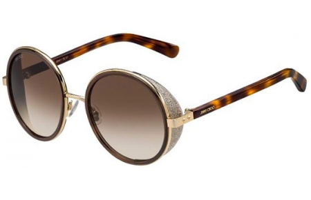 f45fc4493cf26 Gafas de Sol Jimmy Choo ANDIE S J7G (JD) GOLD BROWN HAVANA    BROWN ...