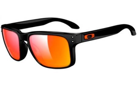Sunglasses - Oakley - HOLBROOK OO9102 - 9102-C07 POLISHED BLACK    RUBY  IRIDIUM fdac33eb6b